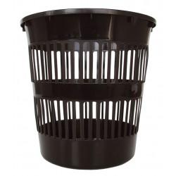 4022 Koš na papír plast děrovaný černý