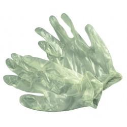 5712a Gumové rukavice latex.jednoráz.silné M 100ks, bal.