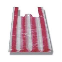 Taška 4kg pruh červeno-bílá, 25+12x45