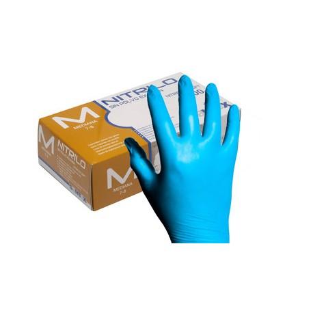 """Rukavice jednorázové nitrilové MSM - modré - """"L"""" - 100ks/balení"""