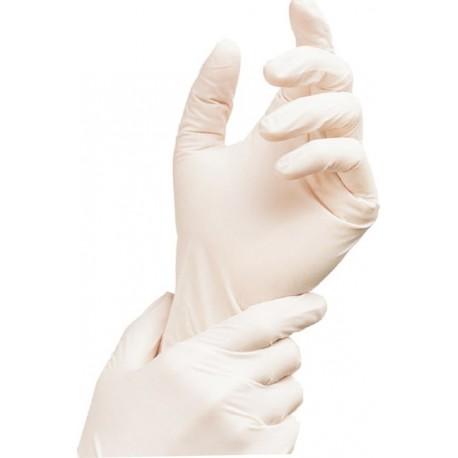 Jednorázové rukavice latexové nepudrované bílé 100 ks