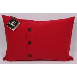 Povlak na polštářek Buttons 40x60cm - Tango red - červená