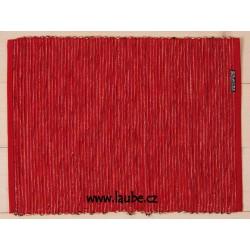 Prostírání Big Rib 30x42cm Red Black - červená