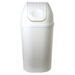 4045VF Koš hranatý s víkem- barva bílá 50l