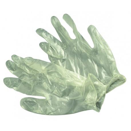 Gumové rukavice vinyle,jednoráz.silné M 100ks, bal.
