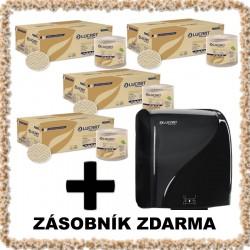 Papírové ručníky  ECONATURAL 155 ID , 24 kusů + zásobník ZDARMA